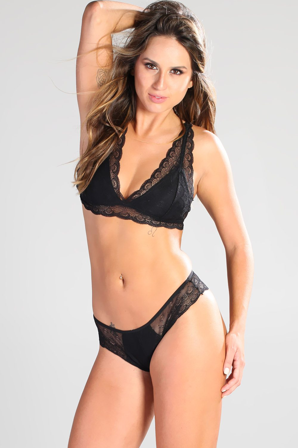 Leticia:  Graceful, elegant black lace | Sets